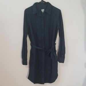 NWT A New Day Size M Blue Cotton Button Up Dress